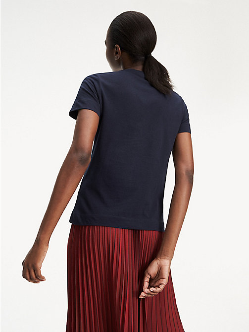 TOMMY HILFIGER Essential Printed T-Shirt - MIDNIGHT - TOMMY HILFIGER Sustainable Evolution - detail image 1