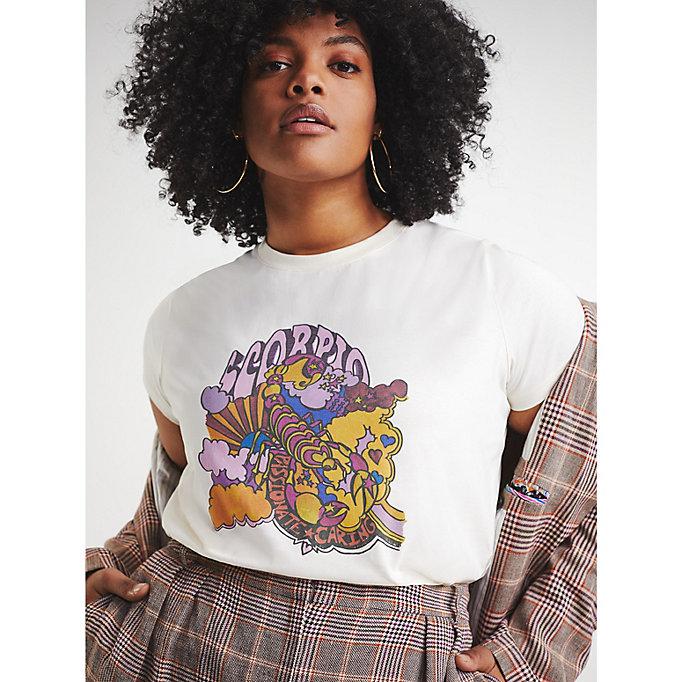 Zendaya Curve Organic Cotton Zodiac T Shirt
