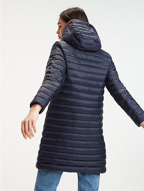 934279cb186d blue lightweight packable quilted down coat for women tommy hilfiger. NEW