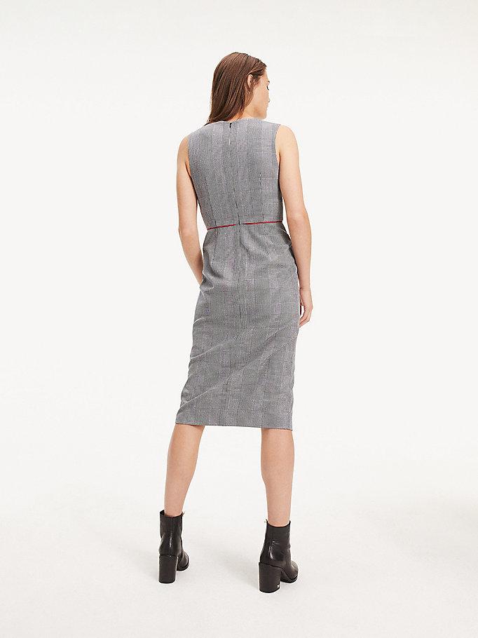 brand new 55ba6 6988d Kariertes Midi-Kleid | WEIß | Tommy Hilfiger