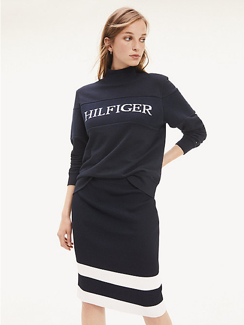 Tommy Hilfiger Rouge Sweat cropped en jersey Femme Salsa
