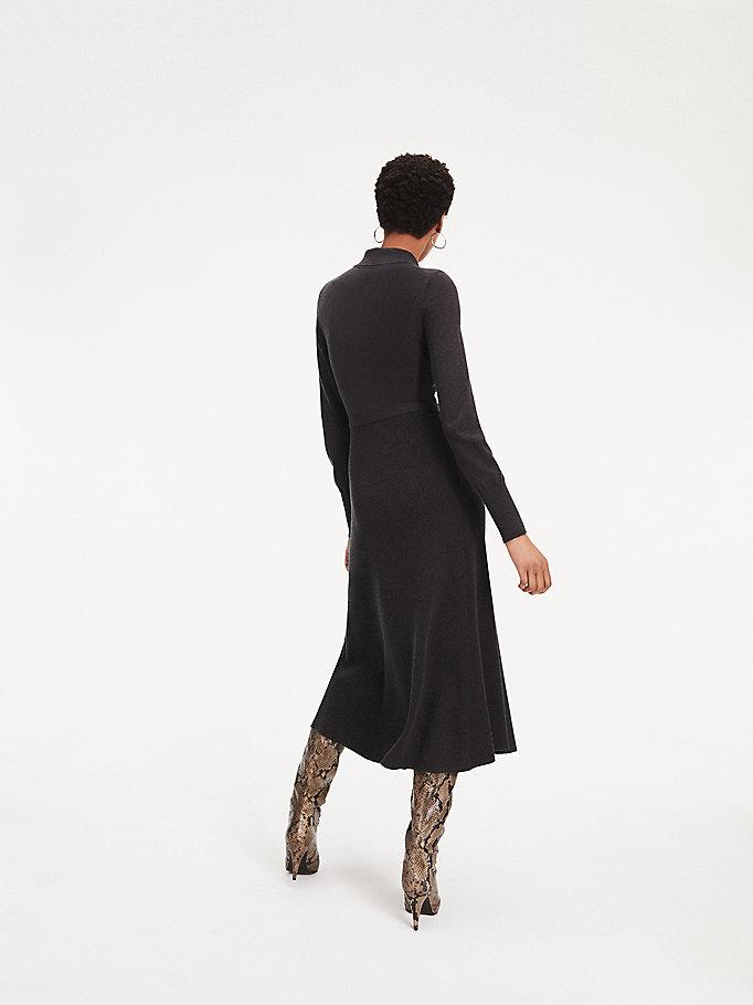 Zendaya Long Sleeve Midi Dress   Tommy Hilfiger
