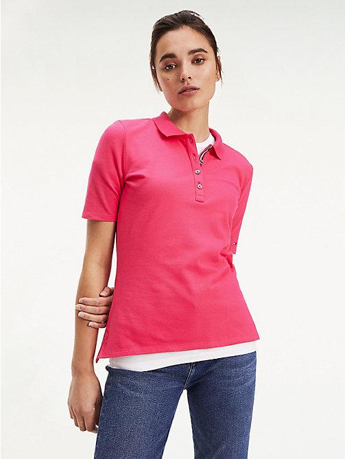 2019 Tommy Hilfiger Damen Poloshirt Mit 3 4 Ärmeln In