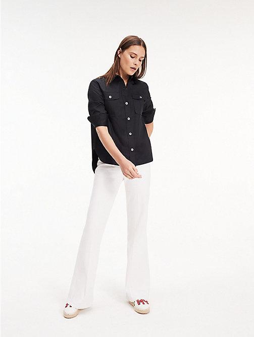 ed7075f271bc38 black utylitarna koszula z długim rękawem dla kobiety - tommy hilfiger