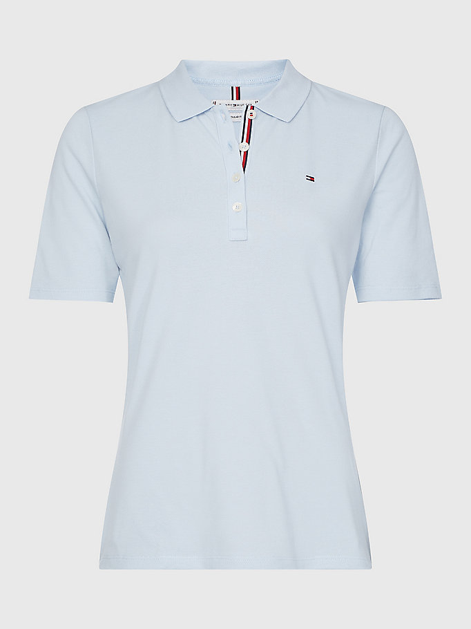 blue essentials curve polo for women tommy hilfiger