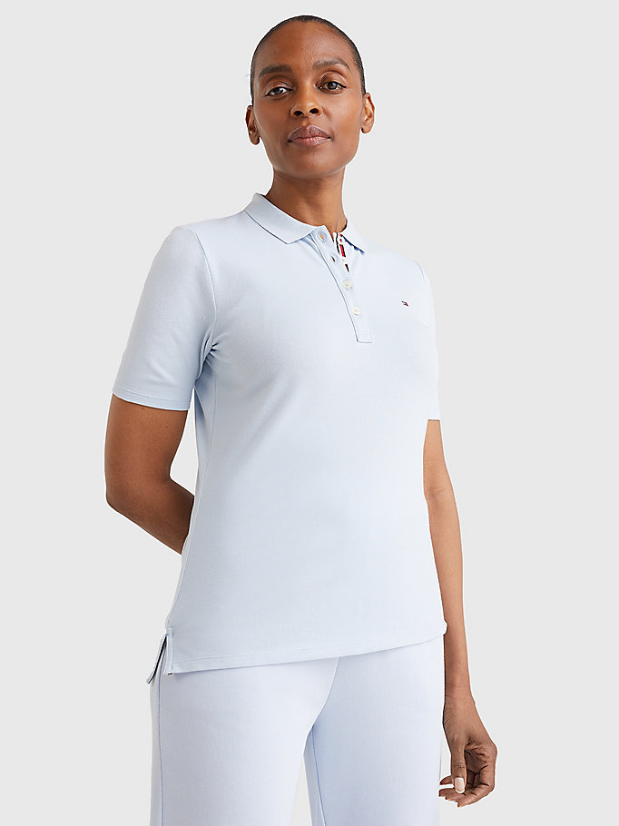 blue essential short sleeve polo for women tommy hilfiger