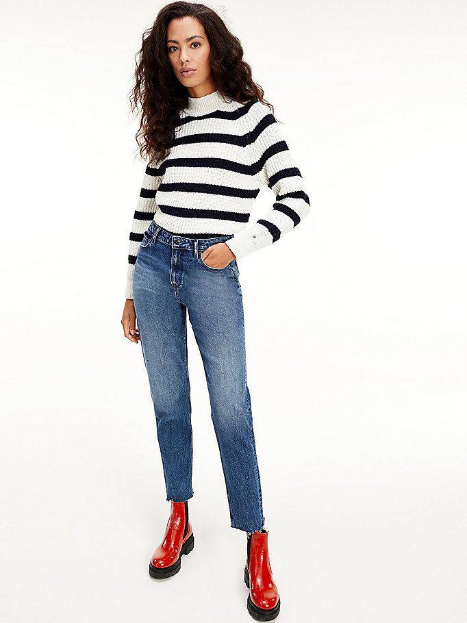 denim gramercy high rise mom jeans voor dames - tommy hilfiger