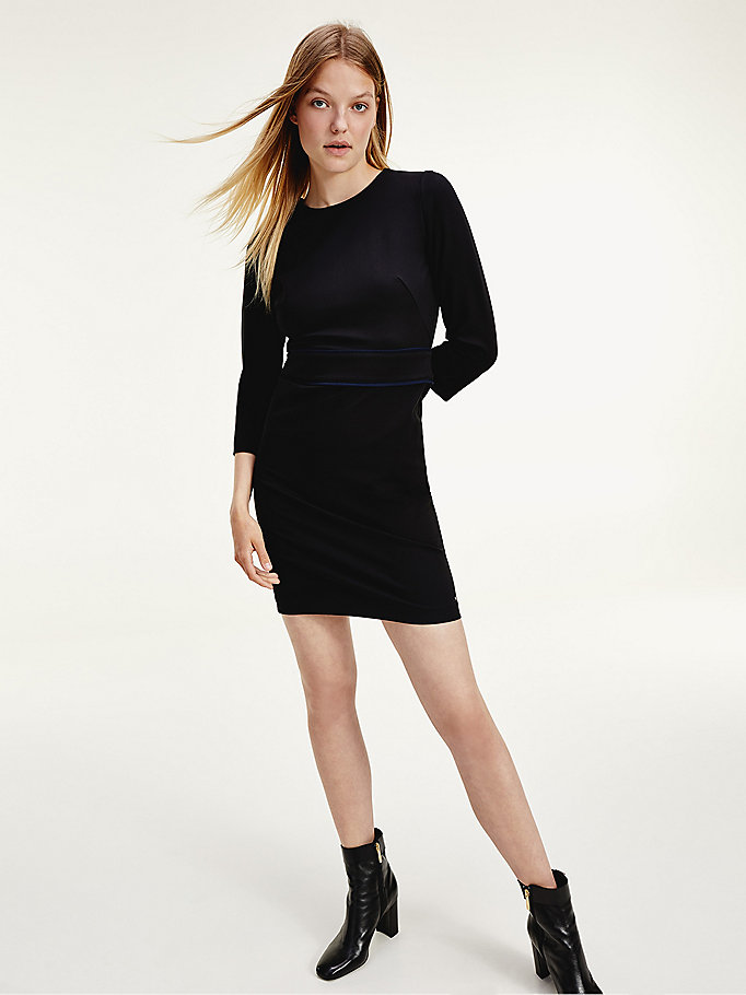 black bodycon shift dress for women tommy hilfiger