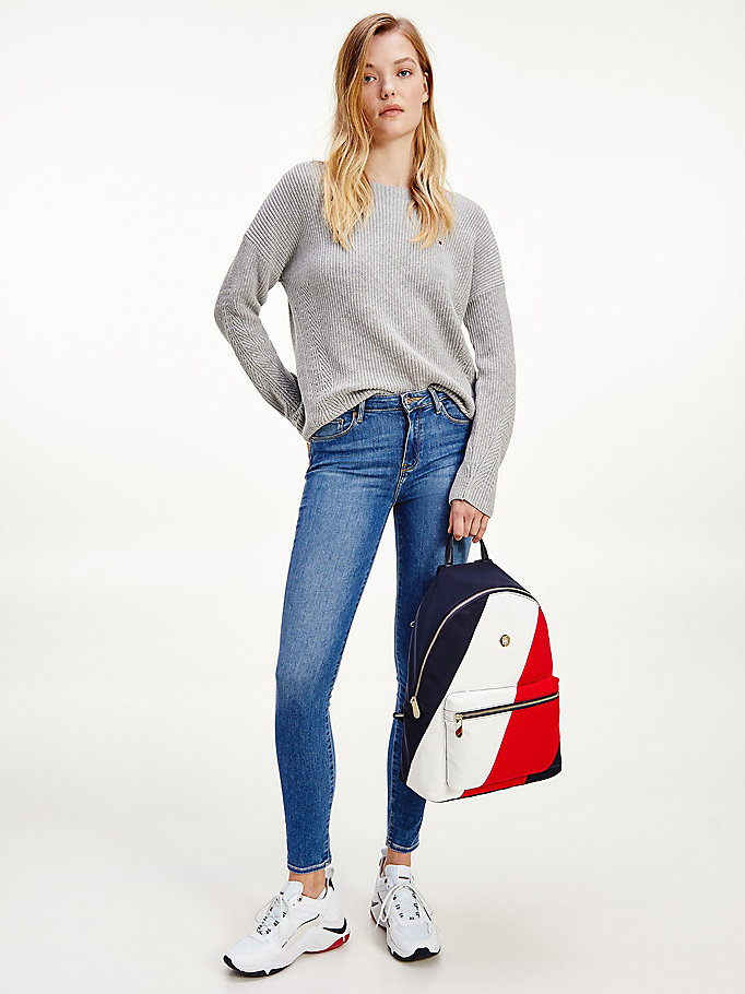 denim como mid rise skinny th flex jeans for women tommy hilfiger