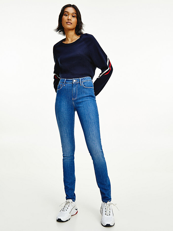 denim como mid rise skinny th soft jeans for women tommy hilfiger