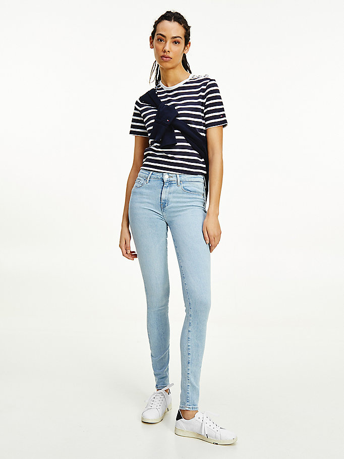 denim como mid rise skinny jeans for women tommy hilfiger