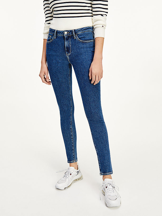 jeans venice th soft slim fit a vita media denim da women tommy hilfiger