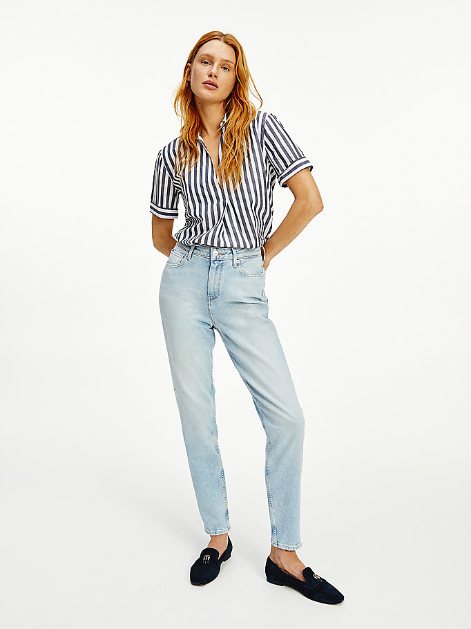 denim gramercy mom high rise tapered jeans for women tommy hilfiger