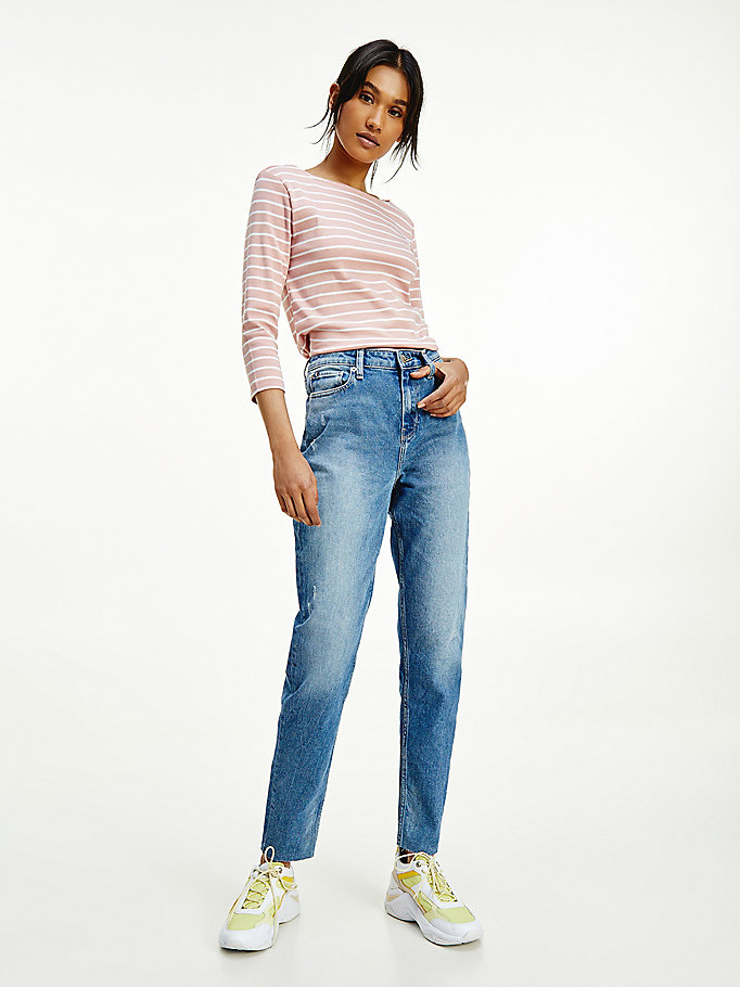 denim gramercy high rise tapered jeans for women tommy hilfiger