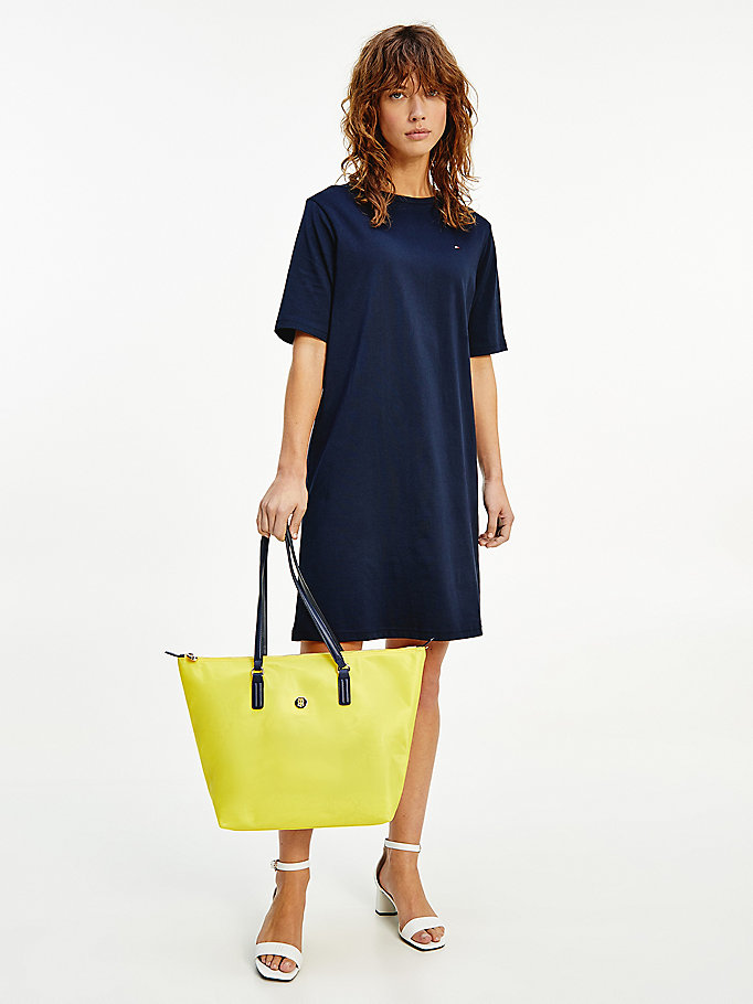 blue signature tape mini shift dress for women tommy hilfiger