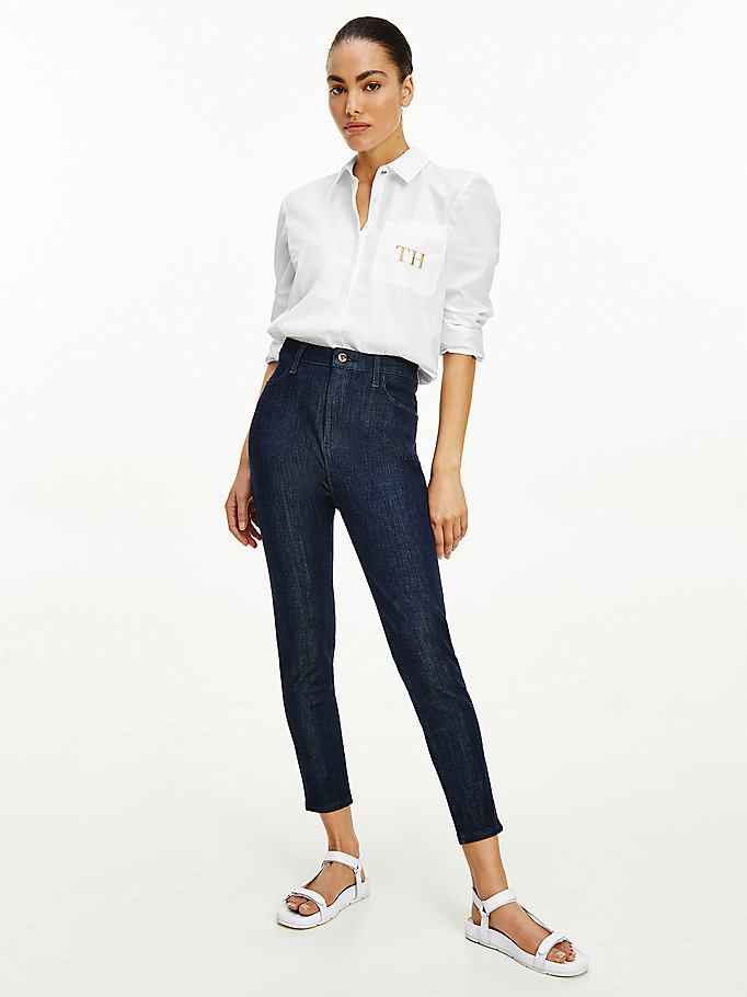 denim sculpt high rise ultra skinny jeans for women tommy hilfiger