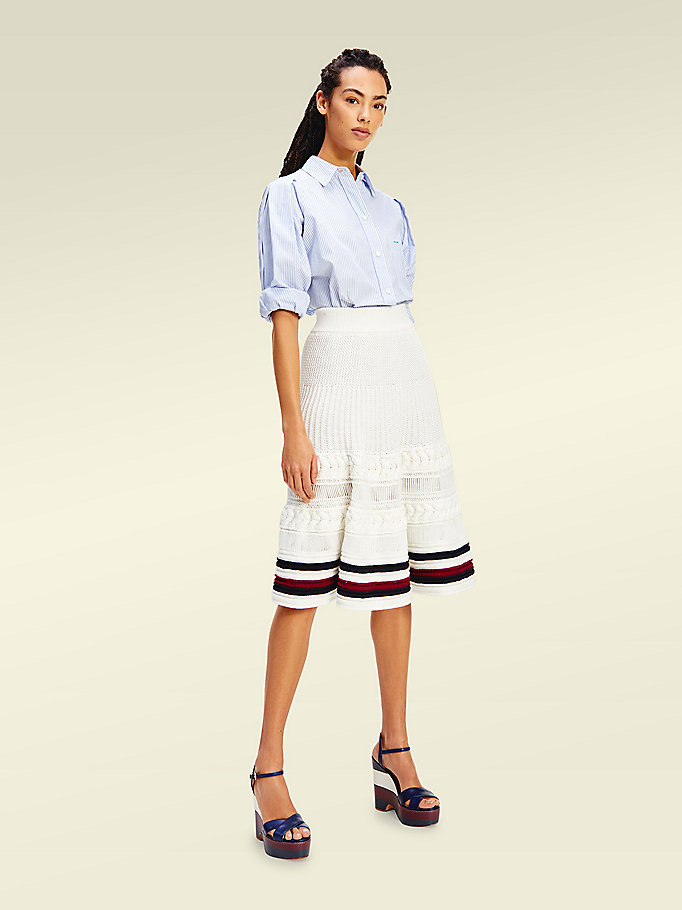 white cricket cable jumper skirt for women tommy hilfiger