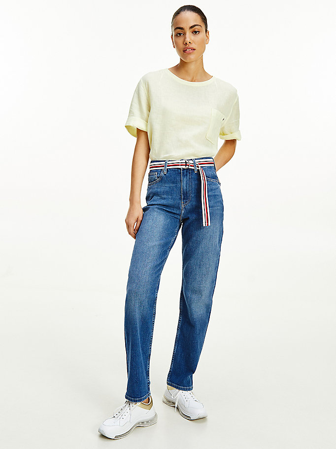 denim new classic high rise straight jeans for women tommy hilfiger