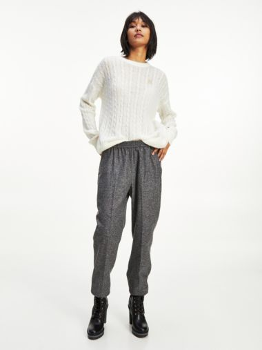 Tapered Pull-On Trousers