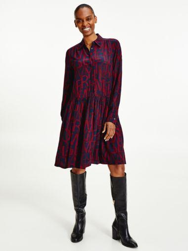 Viscose Print Shirt Dress