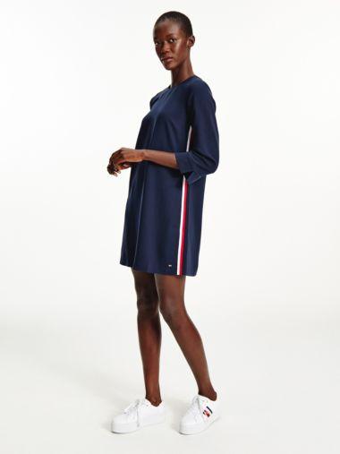 Three-Quarter Sleeve Shift Dress