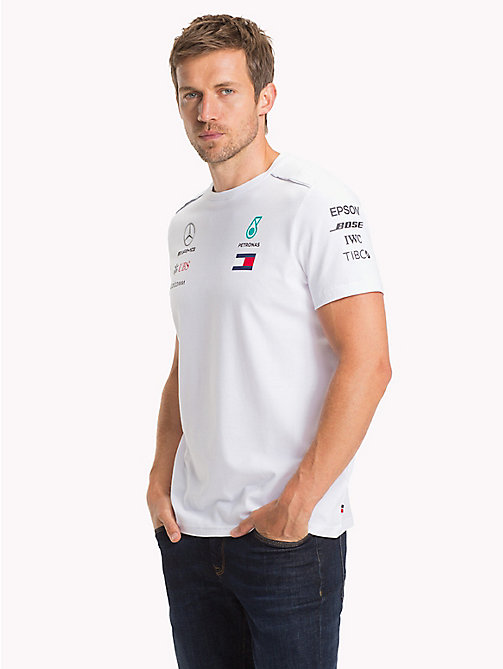 TOMMY HILFIGER Mercedes F1 Driver T-Shirt - WHITE - TOMMY HILFIGER Mercedes-AMG Petronas - main image