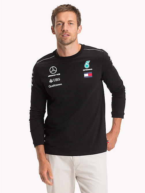 TOMMY HILFIGER Mercedes F1 Long Sleeve T-Shirt - BLACK - TOMMY HILFIGER TommyXMercedes-Benz - main image