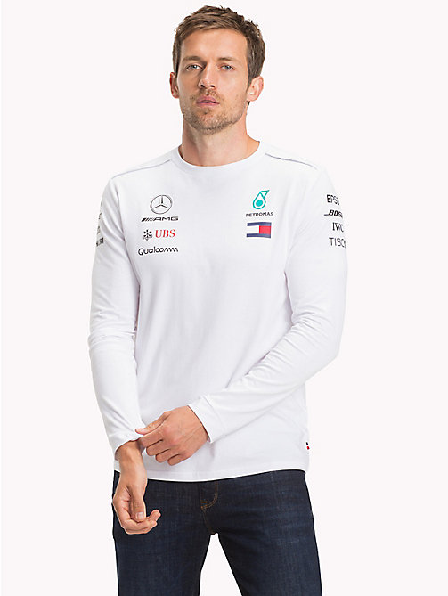 TOMMY HILFIGER Mercedes F1 Long Sleeve T-Shirt - WHITE - TOMMY HILFIGER Mercedes-AMG - main image