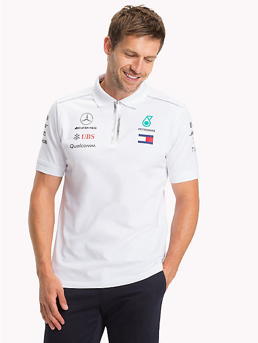 TOMMY HILFIGER Mercedes F1 Team Polo Shirt - WHITE - TOMMY HILFIGER Mercedes-AMG - main image