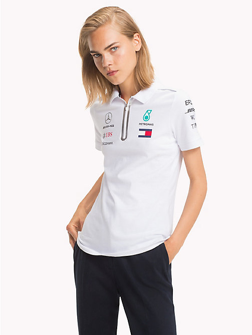 TOMMY HILFIGER Mercedes F1 Polo Shirt - WHITE - TOMMY HILFIGER Polo Shirts - main image